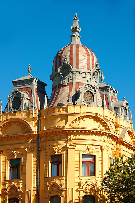 Baroque building on Ludevita Gaja , Zagreb, Croatia