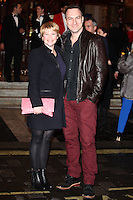 Joanna Page and husband arriving for the I Can't Sing Press Night, at the Paladium, London. 26/03/2014 Picture by: Alexandra Glen / Featureflash