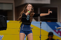 FLUSHING NY- AUGUST 26: Laura Marano performs during rehearsals for Arthur Ashe kids day at the USTA Billie Jean King National Tennis Center on August 26, 2016 in Flushing Queens. Photo byMPI04 / MediaPunch