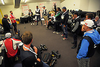 The photographers room on day two of the 2017 HSBC World Sevens Series Wellington at Westpac Stadium in Wellington, New Zealand on Sunday, 29 January 2017. Photo: Dave Lintott / lintottphoto.co.nz