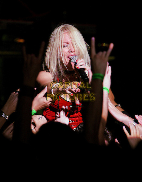 TERRI NUNN - BERLIN.Live in a co-headlining show with Bow Wow Wow at The House of Blues Anaheim in Anaheim, California .December 10th, 2004.stage, concert, live, music, singing, half length, fans, crowd.www.capitalpictures.com.sales@capitalpictures.com.Supplied By Capital PIctures