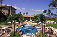 Four Seasons hotel and swimming pool, Wailea beach, Maui