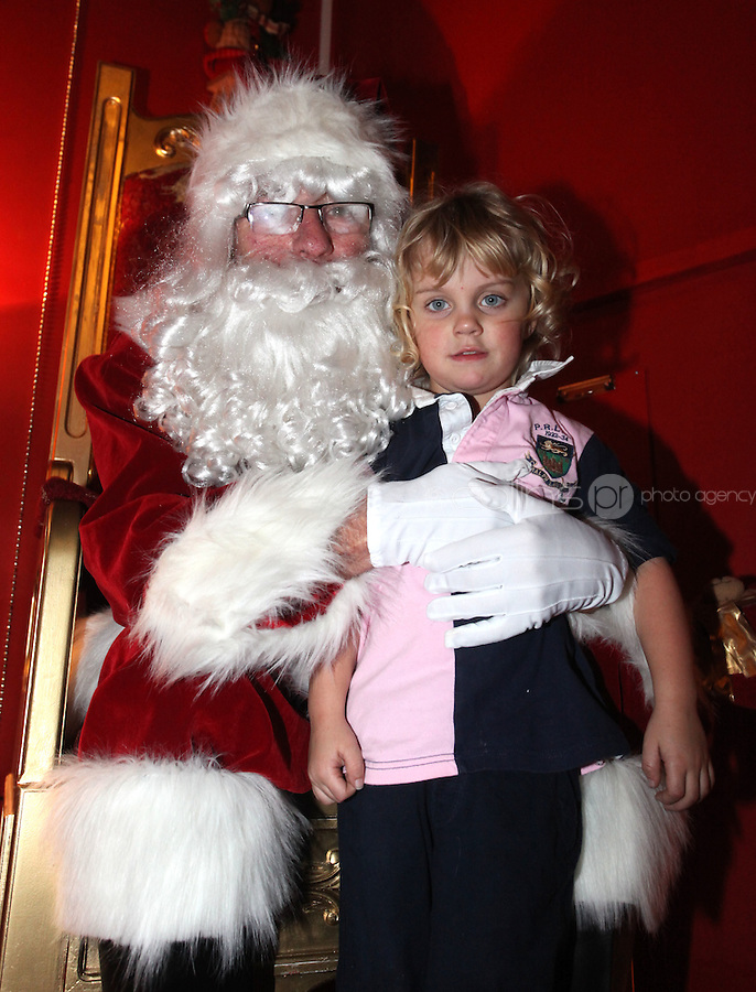 ****NO FEE PIC ******.19/11/2011.Marcus Carroll (4) from Blackrock.at the opening of Santa's Playland in The Ambassador Theatre,Dublin.One of this Christmas' biggest events is coming!  Santa's Playland takes up residence at The Ambassador Theatre in preparation for this year's festive season.  The spectacular event opens on Saturday 19 November and runs until Friday 23 December. Santa's Playland will see children transported to a magical Christmas paradise.On entering Santa's Playland children will be treated to a special Christmas play time.  The Play Area is full of Christmas treats with bouncy castles, slides and Christmas displays..Photo: Gareth Chaney Collins