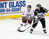 Allie Thunstrom (Boston College - 9), Christie Jensen (Providence - 4) - The Providence College Friars defeated the Boston College Eagles 2-1 (shootout) on Saturday, February 21, 2009, on BC's senior night at Conte Forum in Chestnut Hill, Massachusetts.