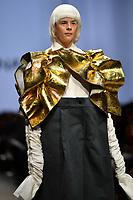 7 September 2017, Melbourne - Model parades design by RMIT student Adriana Bonanno during the Melbourne Fashion Week in Melbourne, Australia. (Photo Sydney Low / asteriskimages.com)