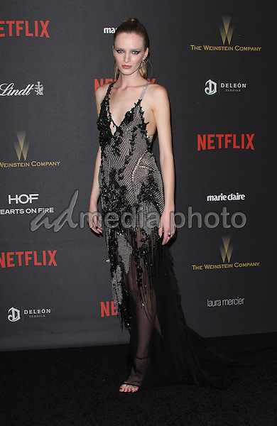 10 January 2016 - Los Angeles, California - Daria Strokous. 2016 Weinstein Company & Netflix Golden Gloves After Party held at the Beverly Hilton Hotel. Photo Credit: AdMedia