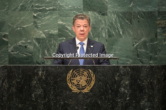 . Address by His Excellency Juan Manuel Santos Calder&oacute;n, President of the Republic of Colombia<br /> <br /> <br /> General Assembly Seventy-first session 10th plenary meeting<br /> General Debate