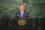 . Address by His Excellency Juan Manuel Santos Calderón, President of the Republic of Colombia<br /> <br /> <br /> General Assembly Seventy-first session 10th plenary meeting<br /> General Debate