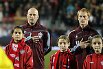 21 November 2010: Colorado's Conor Casey (left) and Jeff Larentowicz (4). The Colorado Rapids defeated FC Dallas 2-1 in overtime at BMO Field in Toronto, Ontario, Canada in MLS Cup 2010, Major League Soccer's championship game.