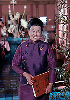 Restauranteur and chef Cecilia Chiang in her Restaurant, the Mandarin, San Francisco, California, July 1977. Photo by John G. Zimmerman.