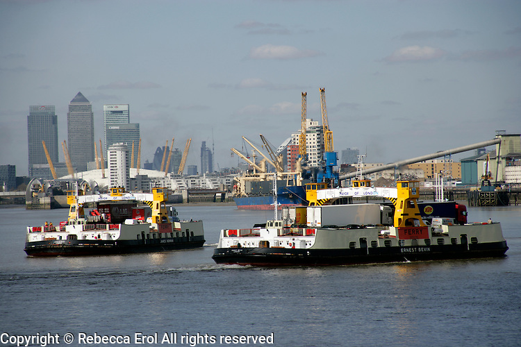 The Woolwich Ferry, southeast London, UK