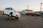 Mar. 13, 2011 - Ibaraki, Japan - Vehicles are shown piled up in Oarai two days after the 8.9 magnitude earthquake struck followed by a tsunami that hit the north-eastern region. The death toll is currently unknown with casualties that may run well into the thousands.