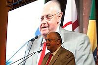 ATENÇÃO EDITOR: FOTO EMBARGADA PARA VEÍCULOS INTERNACIONAIS. SAO PAULO, SP, 11 SETEMBRO DE 2012 - CAMPANHA DOAR E LEGA E A VIDA E RECARREGAVEL DO TJSP - O Governador do Estado, Geraldo Alckmin, o Presidente da Assembleia Estadual, Dep. Barros Munhos e o Presidente do TJSP, Des. Ivan Ricardo Gariso Sartori, lancam nesta manha, 11, na sede do Poder Judiciario paulista, na  zona central da cidade, a camapanha Doar e Legal e a Vida e Recarregavael, a campanha foi idealizada pela esposa do Presidente do TJSP, Dra. Claudia Sartori e tera apoio de do colunista social Amaury Jr, para estimular a doacao de orgaos tanto pelos funcionarios do TJSP bem como a populacao em geral. Nesta foto o Presidente da Assembleia Legislativa, Dep Barros Munhos. FOTO RICARDO LOU - BRAZIL PHOTO PRESS
