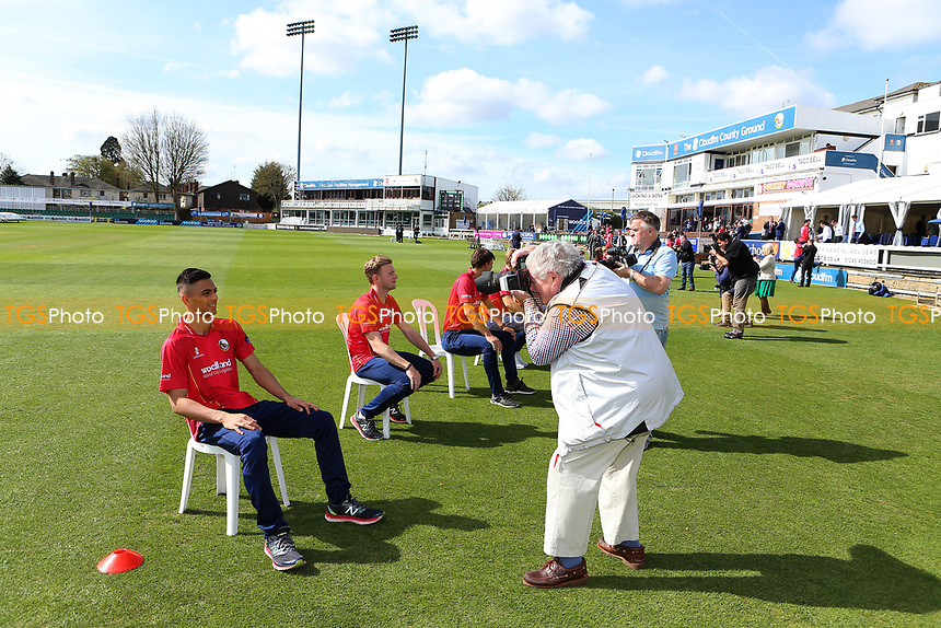 Media attention during the Essex CCC Press Day at The Cloudfm County Ground on 5th April 2017