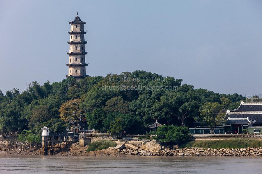 Wenzhou, Zhejiang, China.  Jiangxin Island.  West Pagoda.