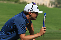 Nico Geyger (CHI) during the first round of the Ras Al Khaimah Challenge Tour Grand Final played at Al Hamra Golf Club, Ras Al Khaimah, UAE. 31/10/2018<br /> Picture: Golffile | Phil Inglis<br /> <br /> All photo usage must carry mandatory copyright credit (&copy; Golffile | Phil Inglis)