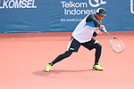 Toshiki Uematsu (JPN), <br /> AUGUST 27, 2018 - Soft Tennis : <br /> Training session<br /> at Jakabaring Sport Center Tennis Courts <br /> during the 2018 Jakarta Palembang Asian Games <br /> in Palembang, Indonesia. <br /> (Photo by Yohei Osada/AFLO SPORT)