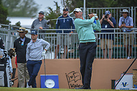 Matt Kuchar (USA) watches his tee shot on 10 during Round 3 of the Valero Texas Open, AT&amp;T Oaks Course, TPC San Antonio, San Antonio, Texas, USA. 4/21/2018.<br /> Picture: Golffile | Ken Murray<br /> <br /> <br /> All photo usage must carry mandatory copyright credit (&copy; Golffile | Ken Murray)