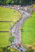 Rick Robson/Cyclesportphotos.com - 06/07/2014 - Cycling - Tour de France 2014: Stage 2, York to Sheffield - Yorkshire, England - The peloton passes through Stanbury. COPYRIGHT WARNING : THIS IMAGE IS RIGHTS MANAGED AND THE COPYRIGHT MAY SIT WITH A THIRD PARTY PLEASE CONTACT simon@swpix.com BEFORE DOWNLOAD AND OR USE