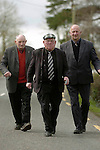 Pep in his step....Jackie Healy-Rae out canvassing in South Kerry with Timmy o'Sullivan, left and Arthur Lenihan.<br />Picture by Don MacMonagle