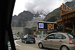 Mount Blanc Tunnel from Italy to France.