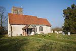 Parish church of All Saints at Shelley, Suffolk, England