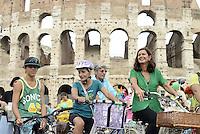 Roma, 21 Settembre 2014<br /> People's Climate March.<br /> La Presidente della Camera dei Deputati Laura Boldrini partecipa alla manifestazione e alla biciclettata per il clima.<br /> In occasione del vertice sulclimadei capi di Stato a New York  giornata di mobilitazione mondiale contro i cambiamenti climatici. <br /> La manifestazione a Roma al Colosseo e in via dei Fori Imperiali promossa da Power Shift Italia, Italian climate Network, Legambiente e KyotoClub chiede che il tema dei cambiamenti climatici diventi un punto prioritario nell'agenda di Governo, verso l'obiettivo del taglio delle emissioni CO2 e altri gas terra.<br /> Rome, 21 September 2014 <br /> People's Climate March. <br /> The italian President of Chamber of deputies Laura Boldrini partecipated at the event and  bike ride.<br /> During the climate summit of heads of state in New York the day of global mobilization against climate change. <br /> The event in Rome at the Colosseum and Via dei Fori Imperiali, promoted by Power Shift Italy, Italian Climate Network, Legambiente and KyotoClub asks that the issue of climate change become a priority item on the agenda of the Government, towards the goal of cutting CO2 emissions and other gases land.