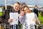 Brendan Lavercombe, Amanda Finn and Addison Levercombe  celebrates becoming Irish citizens at the Citizenship ceremony in the INEC on Monday