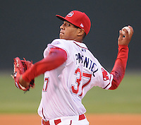 Sept. 17, 2009: Starting pitcher Stolmy Pimentel of the Greenville Drive in Game 3 of the South Atlantic League Championship Series between the Drive and the Lakewood BlueClaws Sept. 17, 2009, at Fluor Field at the West End in Greenville, S.C.  Photo by: Tom Priddy/Four Seam Images