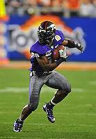 Jan. 4, 2010; Glendale, AZ, USA; TCU Horned Frogs wide receiver (88) Jimmy Young against the Boise State Broncos in the 2010 Fiesta Bowl at University of Phoenix Stadium. Boise State defeated TCU 17-10. Mandatory Credit: Mark J. Rebilas-