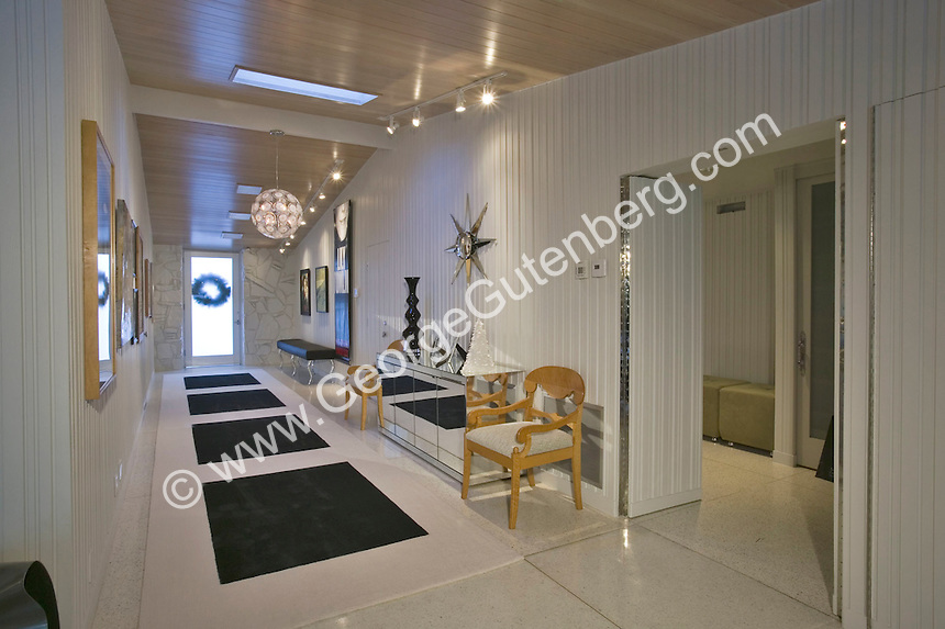 Entry of mid-century modern home