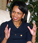 United States Secretary of State Condoleezza Rice gives an interview in her office at the U.S. Department of State in Washington, D.C. on December 13, 2005..Credit: Ron Sachs / CNP.(RESTRICTION: NO New York or New Jersey Newspapers or newspapers within a 75 mile radius of New York City)