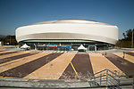 Gangneung Ice Arena, Oct 30, 2017 : Gangneung Ice Arena in Gangneung Olympic Park of the 2018 PyeongChang Winter Olympics is seen in Gangneung, east of Seoul, South Korea. The 23rd Winter Olympics will be held for 17 days from February 9 - 25, 2018. The opening and closing ceremonies and most snow sports will take place in PyeongChang county. Jeongseon county will host Alpine speed events and ice sports will be held in the coast city of Gangneung. (Photo by Lee Jae-Won/AFLO) (SOUTH KOREA)