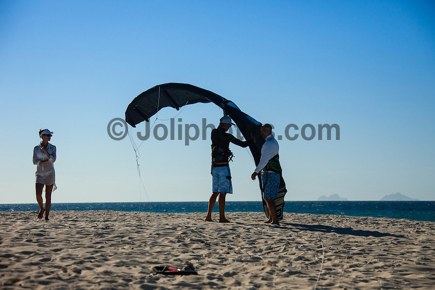 Namotu Island Resort, Fiji. (Sunday, August 26, 2012) -   Light winds this morning and a small swell. Ben Wilson (AUS) caught a dog tooth tuna that weighed in at 39 kgs. The wind came up in the afternoon with the kite surfers enjoying the conditions.   . Photo: joliphotos.com