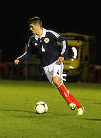 Darren Petrie in the Scotland v Armenia UEFA European Under-19 Championship Qualifying Round match at New Douglas Park, Hamilton on 9.10.12.