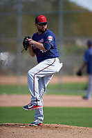 Minnesota Twins pitcher Ricky Nolasco (47) during a Spring Training practice on March 1, 2016 at Hammond Stadium in Fort Myers, Florida.  (Mike Janes/Four Seam Images)