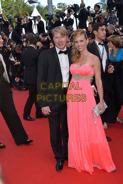 Mika Hakkinen & Marketa Kromotova.'Cleopatra' premiere at the 66th  Cannes Film Festival, France..21st May 2013.full length pink dress married husband wife black tuxedo   .CAP/PL.©Phil Loftus/Capital Pictures.
