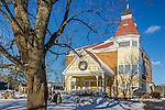 The old town hall building in Brewster, Cape Cod, Massachusetts, USA
