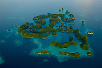 AERIAL OF THE ROCK ISLANDS PALAU, MICRONESIA, THE 70 ISLANDS