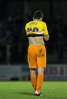 Luke O'Nien of Wycombe Wanderers after his teams 3-0 defeat during the Sky Bet League 2 rearranged match between Bristol Rovers and Wycombe Wanderers at the Memorial Stadium, Bristol, England on 1 December 2015. Photo by Andy Rowland.