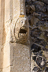 Church of Saint Mary of the Assumption, Ufford, Suffolk, England, UK medieval screaming face stone gargoyle