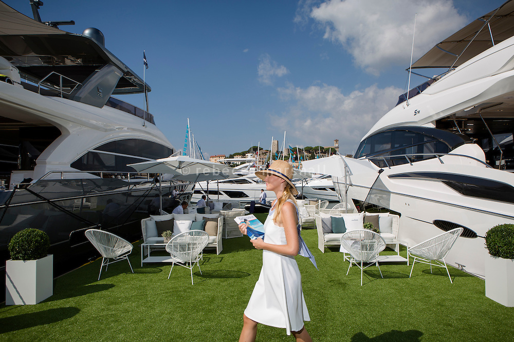 Princess Yachts stand at the Cannes Yachting Festival, Cannes, France, 6 September 2016