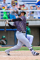 Quad Cities River Bandits third baseman Wander Franco (4) swings at a pitch during a Midwest League game against the Beloit Snappers on June 18, 2017 at Pohlman Field in Beloit, Wisconsin.  Quad Cities defeated Beloit 5-3. (Brad Krause/Four Seam Images)