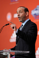 MLS commissioner Don Garber during the MLS SuperDraft at the Pennsylvania Convention Center in Philadelphia, PA, on January 14, 2010.