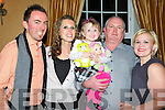 On Thursday evening celebrating her 50th Birthday was Pat Bowler (Ballyheigue) with his Family in Ballygarry House Hotel & Spa, Tralee, L-r: Niall O'Shea, Rebecca and Melissa Bowler,Pat Bowler (Birthday boy) and carol Singleton.O'Driscoll, Claire Culahane and Liz Porrest.