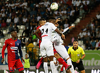 MANIZALES - COLOMBIA, 28-09-2019: Acción de juego entre los equipos  del Once Caldas  y el Independiente Medellín  durante partido por la fecha 13 Liga Águila II 2019 jugado en el estadio Palogrande de la ciudad de Manizales. / Action game between teams  Once Caldas and Independiente Medellin during the match for the date 13 of Liga Aguila II 2019 played at the Palogrande Stadium in Manizales city. Photo: VizzorImage / Santiago Osorio / Contribuidor