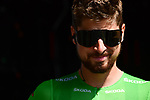 Green Jersey Peter Sagan (SVK) Bora-Hansgrohe at sign before the start of Stage 8 of the 2018 Tour de France running 181km from Dreux to Amiens Metropole, France. 14th July 2018. <br /> Picture: ASO/Alex Broadway | Cyclefile<br /> All photos usage must carry mandatory copyright credit (&copy; Cyclefile | ASO/Alex Broadway)