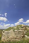 Samaria, Sebastia, the Western gate of the Roman city Sebaste, built by King Herod in the 2nd century A.D.