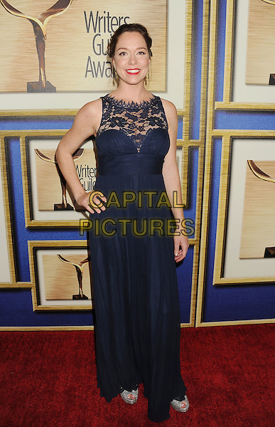 LOS ANGELES, CA- FEBRUARY 01: Writer Sarah Hader arrives at the 2014 Writers Guild Awards L.A. Ceremony at JW Marriott Los Angeles at L.A. LIVE on February 1, 2014 in Los Angeles, California.<br /> CAP/ROT/TM<br /> &copy;Tony Michaels/Roth Stock/Capital Pictures