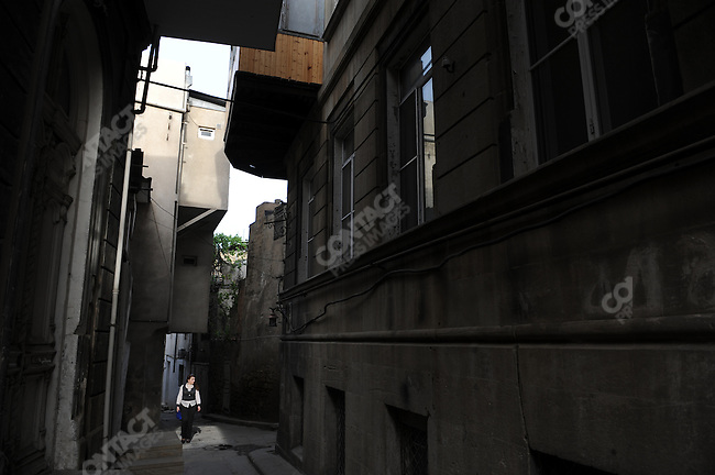Narrow lanes in the the old city of Baku, Azerbaijan, May 12, 2011